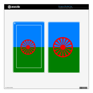 Official Romany Gypsy flag Skin For Kindle Fire