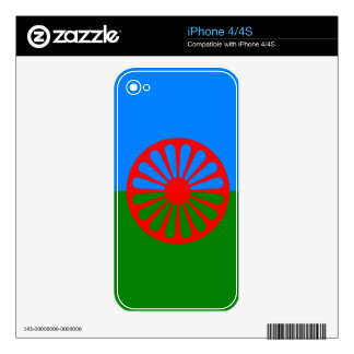 Official Romany Gypsy flag Skins For The iPhone 4