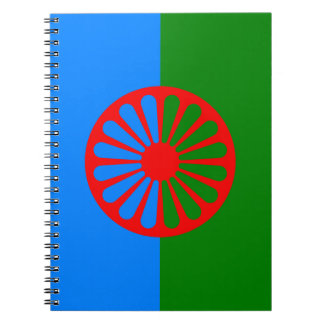 Official Romany gypsy flag Spiral Note Book