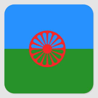 Official Romany gypsy flag Square Sticker