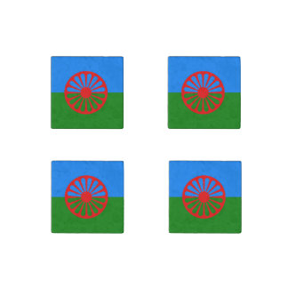 Official Romany gypsy flag Stone Magnet
