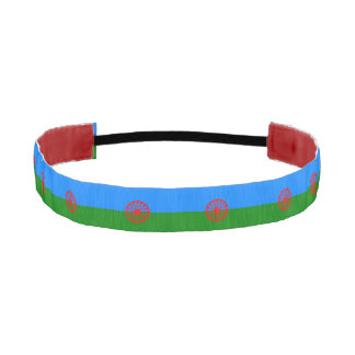 Official romany gypsy flag symbol athletic headbands