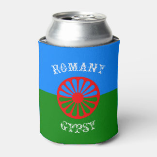 Official romany gypsy flag symbol can cooler