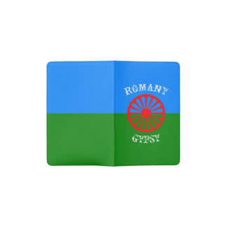 Official romany gypsy flag symbol pocket moleskine notebook cover with notebook