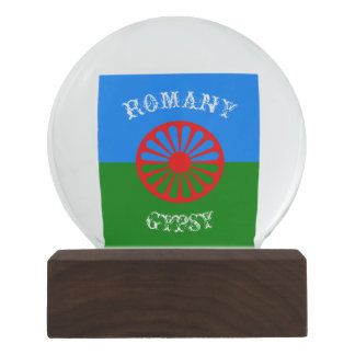 Official romany gypsy flag symbol snow globes