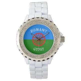 Official romany gypsy flag symbol watch