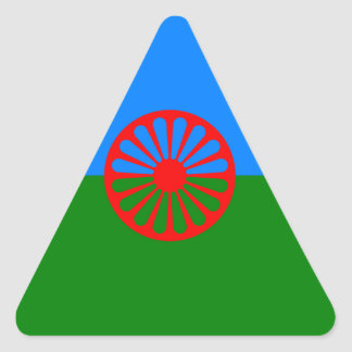 Official Romany gypsy flag Triangle Sticker