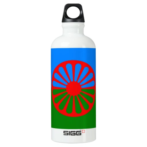 Official Romany gypsy flag Water Bottle