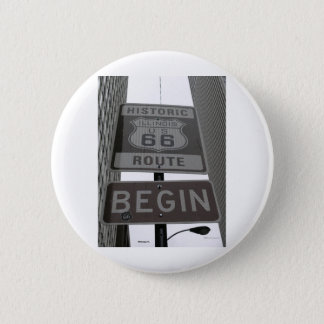 Official Route 66 begin sign Button