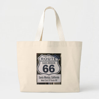 Official Route 66 end sign santa monica Jumbo Tote Bag