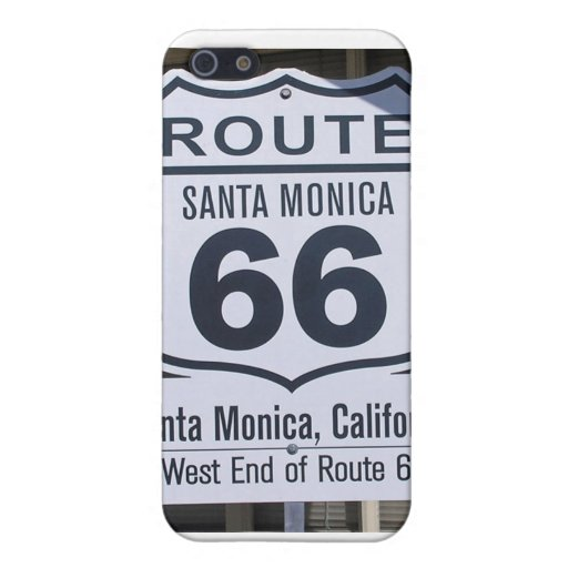 Official Route 66 end sign santa monica Cases For iPhone 5