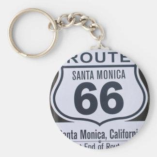 Official Route 66 end sign santa monica Key Chain