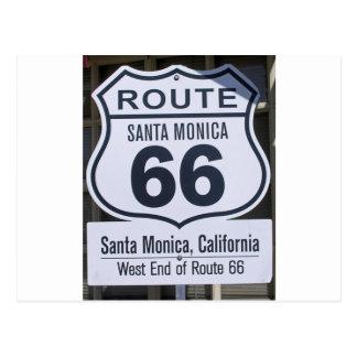 Official Route 66 end sign santa monica Postcard