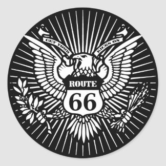 Official Rt. 66 Round Stickers