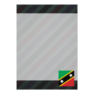 """Official Saint Kitts and Nevis Flag on stripes 5"""" X 7"""" Invitation Card"""