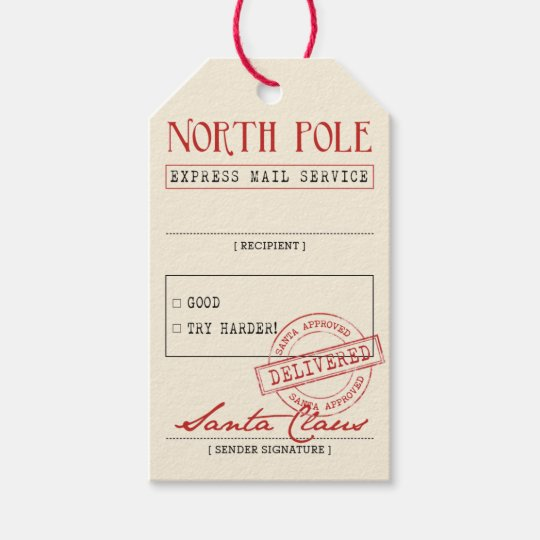 official santa gift tags zazzle com
