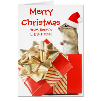 Official Santa's Little Helper Card