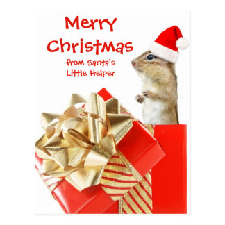 Official Santa's Little Helper Postcard