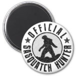 Official Sasquatch Hunter - Bigfoot in B/W Grunge Refrigerator Magnets
