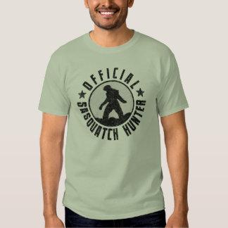 Official Sasquatch Hunter - Bigfoot in B/W Grunge Shirts