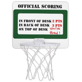 Official scoring mini basketball hoop