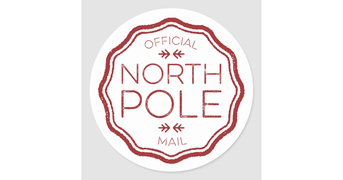 Official Seal From The North Pole Zazzle Com