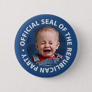 official seal of the republican party pinback button