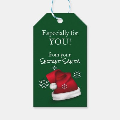 secret santa gift tags zazzle com