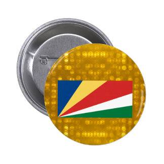 Official Seychellois Flag 2 Inch Round Button