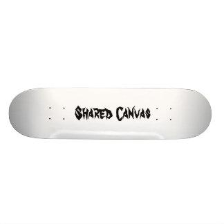 Official Shared Canvas skateboard deck.