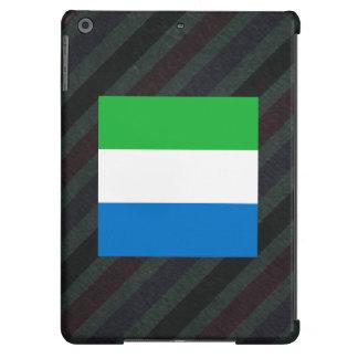 Official Sierra Leone Flag on stripes iPad Air Covers