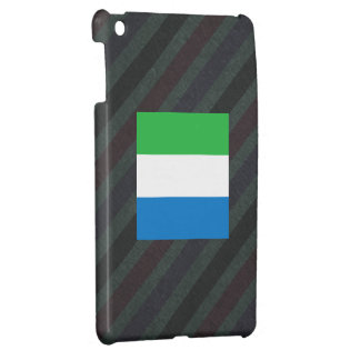 Official Sierra Leone Flag on stripes iPad Mini Cases