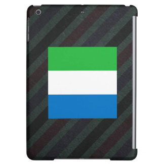 Official Sierra Leone Flag on stripes Cover For iPad Air