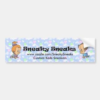 Official Sneaky Sneaks Logo Bumper Sticker Car Bumper Sticker