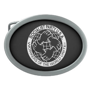 "Official ""Socialist Party USA"" Logo belt Buckle"