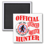 Official squatch hunter 2 inch square magnet