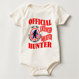 Official squatch hunter baby bodysuit