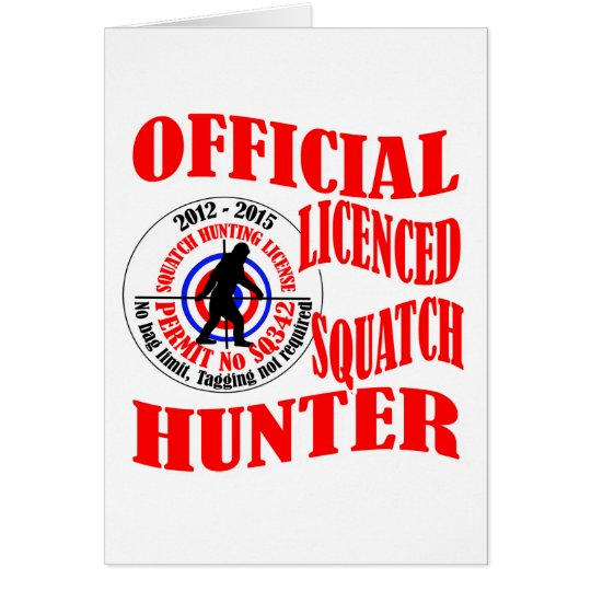 Official squatch hunter card