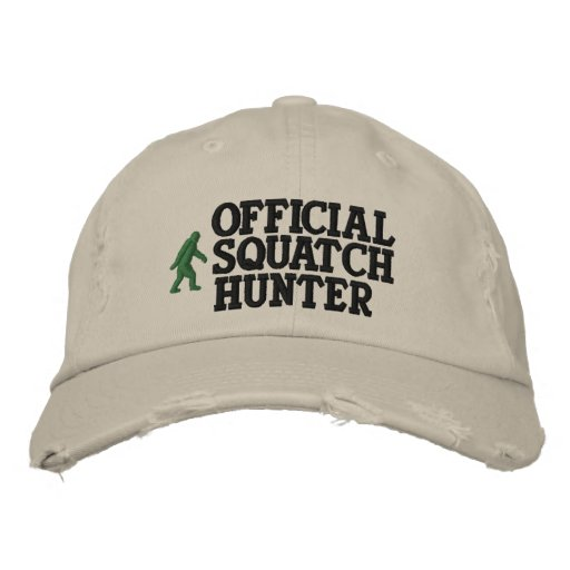 Official squatch hunter embroidered baseball cap