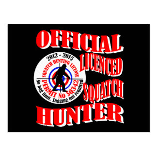 Official squatch hunter postcards