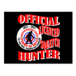Official squatch hunter postcards