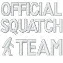 Official Squatch team embroideredshirt