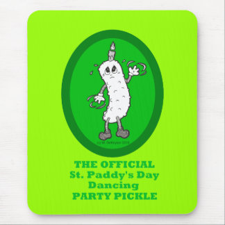Official St. Patrick's Day Dancing Party Pickle Mouse Pad