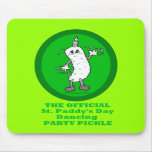 Official St. Patrick's Day Dancing Party Pickle Mouse Pads