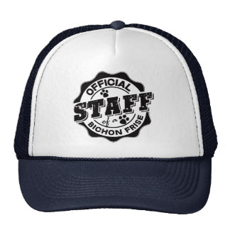 Official Staff of a Bichon Frise Trucker Hat