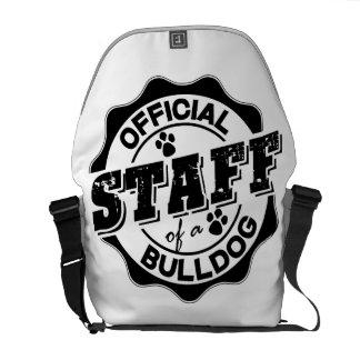 Official Staff of a Bulldog Messenger Bag