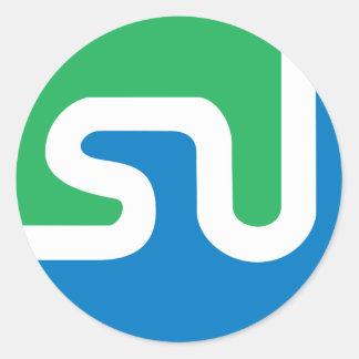 Official StumbleUpon logo Classic Round Sticker