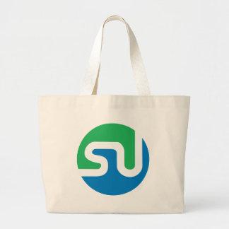 Official StumbleUpon logo Large Tote Bag