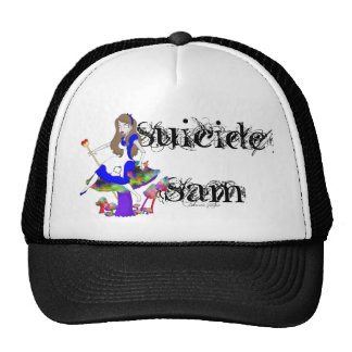 Official Suicide Sam Merch Art by Shannon Justice Trucker Hat