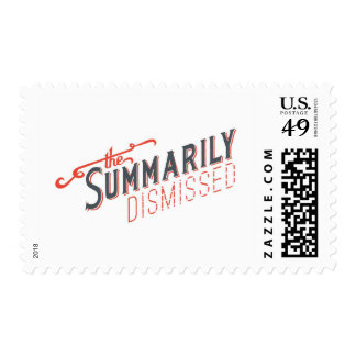 Official Summarily Dismissed Logo Postage